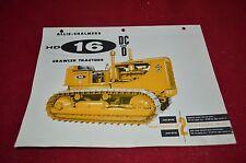 Allis Chalmers HD16 DC & D Crawler Tractor Dealers Brochure AMIL12 ver1