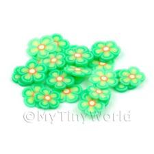 2x 50 Verde Flor rebanadas de caña-Arte en Uñas (dns77)