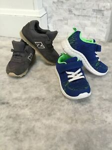 2 Kids sneakers bundle size 7 and 7.5 New balance Grey & Carter's blue