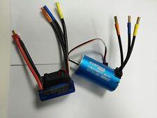 Set Brushless 3670 2150KV Motor Sensorlos 4P+ ESC 80A für 1:8 1:10 Auto LKW DEW