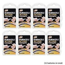 32 pcs Duracell Size 312 Hearing Aid Batteries NEW Super Fresh