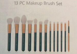 DUcare Makeup Brush Set Green 13 Pcs Professional Makeup Brushes with Bag