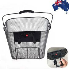 Bicycle Quick Release Front Bike Basket Extra Storage Handlebar Basket OBIK74303