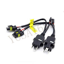 1 pair H4 relay harness for h4 bi xenon wire harness install connector cable