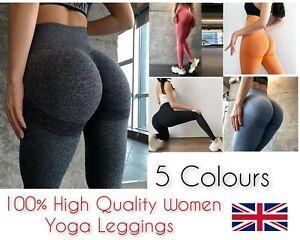Women High Waist Jogging Seamless Gym Leggings Push Up Fitness Sports Yoga Pants