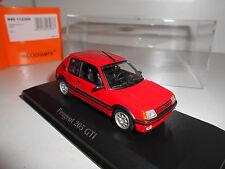 PEUGEOT 205 GTI 1990 RED MAXICHAMPS MINICHAMPS 940112300 1:43