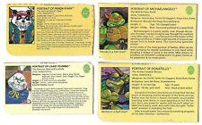 Teenage Mutant Ninja Turtles FILE CARD LOT of 4 Usagi Yojimbo Panda Khan TMNT