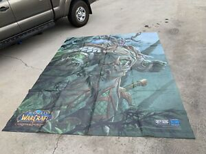 Last One! WORLD OF WARCRAFT VINYL Convention Display HANGING HUGE BLIZZARD 10ft