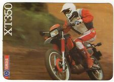 1988 Portugese Pocket Calendar Yamaha XT350 Motorcycle Motorbike bike