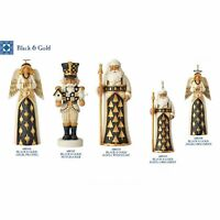 Jim Shore Heartwood Creek Black Gold Santa Angel Nutcracker Set Retired 4061129