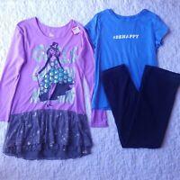Justice Girls Lot Size 18 Drop Waist Dress Be Happy T-shirt Leggings