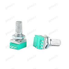 2Pcs B50K RK097N Seal Potentiometer Single 3 Pin Audio Pot - Carbon Film