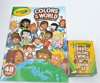 Crayola Colors of the World Activity Coloring Book + Colors of World Crayons