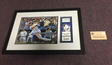 Derek Jeter Autographed 3000th Hit Photo + Original Game Ticket  Steiner COA