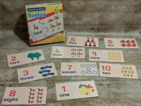 Vintage Match and Make, 2 Piece Puzzles, Numbers to Ten