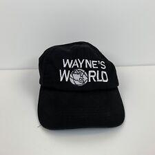 b118d71aab8 Waynes World Strapback Baseball Cap Black Sewn