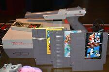 Nintendo Entertainment System NES Bundle w/ Super Mario1,2,3, Duck Hunt, Zapper