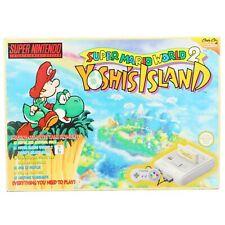 SNES - Konsole #Yoshi's Island Edition + Spiel + Original Pad + Zub. AUS mit OVP