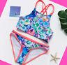 Girls Swimwear Swimsuit Bikini set Swimming Costume Tankini set Age 7-14 years