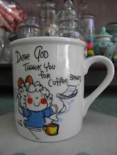 Enesco Dear God Thank You for Coffee Breaks Coffee Tea Mug