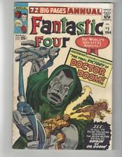 Fantastic Four Annual #2/Silver Age Marvel Comic Book/Origin of Dr. Doom/FN