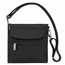Travelon Anti-Theft Crossbody Shoulder Bag Sling Tote BLACK