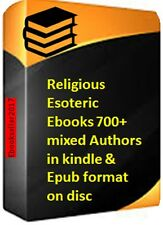 Religious Esoteric Ebooks 700+ mixed Authors in kindle & Epub format on disc