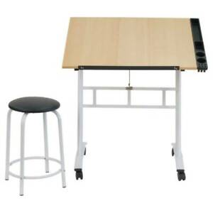 bright white Studio Designs 13240 Craft Center Drafting Table