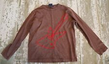MINI BODEN Brown Long sleeve Red Guitar Embroidered Stitched shirt Music 5 6
