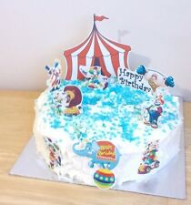 CIRCUS THEME edible 3D cake scene decoration set stand up toppers