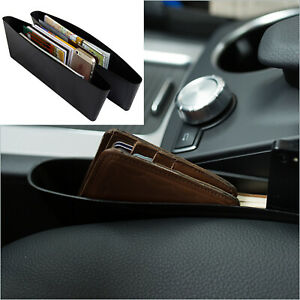 2X Car Seat Storage Box Gap Pocket Organizer Caddy Side Holder Universal Black