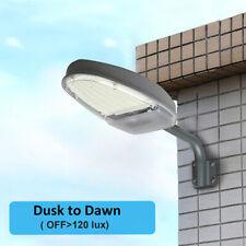 Warm White Street Light 3000K Dusk to Dawn Sensor Waterproof Security Lighting