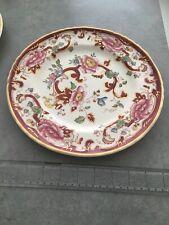 "Collectable Mason's Mandalay Ironstone Red China 10.5"" Plate"