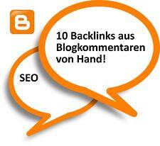 10 Backlinks aus Blogkommentare kaufen - SEO Backlinkaufbau - mit Garantie
