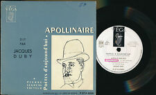 "JACQUES DUBY EP 7"" FRANCE APOLLINAIRE"