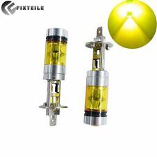 2X H1 LED Nebel Scheinwerfer Kit 100W Fern-/ Abblendlicht Birnen GELB 4300K