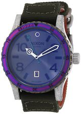 Nixon Men's A2691765 Diplomat Surplus Antique Silver GMT 45mm Watch A269-1765-00