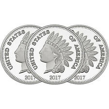 2017 Indian Head Cent by SilverTowne 1oz .999 Silver Medallion (3pc)