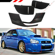 FOR 2004-2005 SUBARU IMPREZA WRX STI GD FRONT BUMPER SIDE LIP + FOG LIGHT COVERS