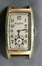Vintage 1940'S Bulova Curvex Wrist Watch 10 Kt Gold Filled