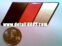 THE ORIGINAL GOLD GERMAN FLAG BADGE EMBLEM FOR VW AUDI BMW MERCEDES PORSCHE