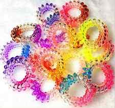 T014 5pc Hair Bands Elastics Bracelets Hair Ties Spiral Slinky Rubber rope
