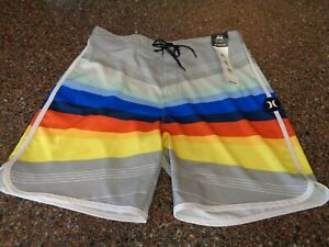 "Hurley Men's Phantom Point 18 Board Shorts Sz 32 Trunks 9"" Ins NWT Swim Trunks"