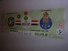 used ticket POLONIA Warsaw - FC PORTO 03.10.2002