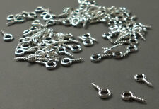 450 Silver Plated Screw In Eyelets Bails  Eye Pins jewellery craft 10mm x 4mm