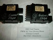 2002 Ford Taurus PWM AC Heat Blower Motor Climate Control  F50F-19E624-CC #HS009
