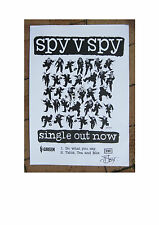 Spy vs Spy first single poster v Spy v Spy autographed A3 size