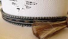 Cowboy Horse hair hat band X-wide 7 Strand wide BOLDEST Tri-colored design