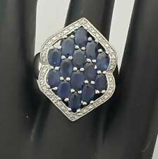Sterling SIlver Sapphire Ring Size 6.75 LK-SSR24