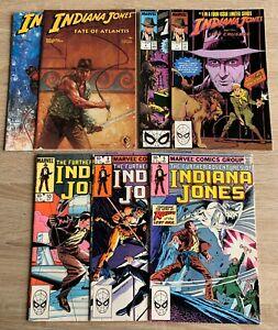 Indiana Jones - Nice Mixed Lot of 7 Comics - Further Adv., Fate of Atlantis